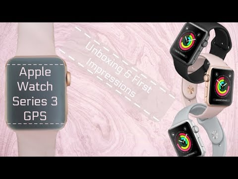 Apple Watch Series 3 38mm GPS Unboxing & First Impressions ~ Gold | Beauty Jamm