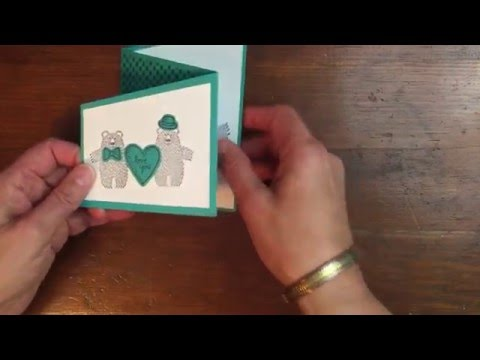 How to Make a Trifold Card with Bear Hugs!