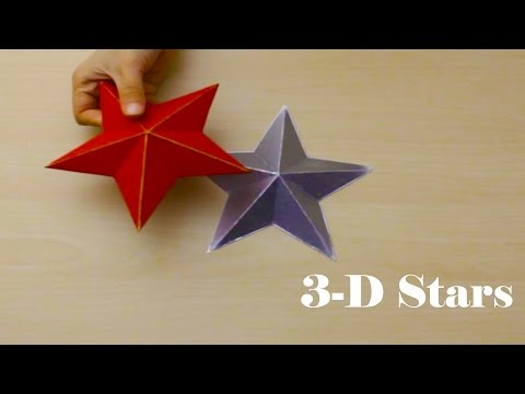 3D decorative star with cardboard - 6th day of Christmas decor