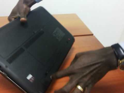 Changing HP laptop battery