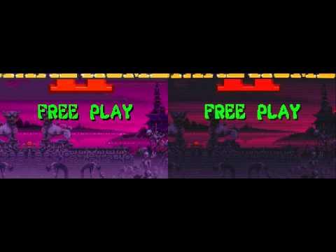 MAME's HLSL demonstrated in Mortal Kombat II