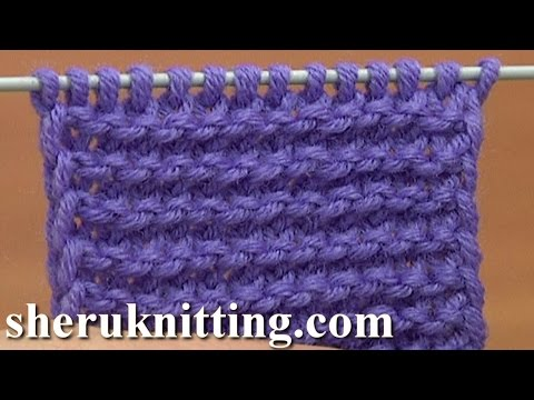 Knit The Garter Stitch of Twisted Loops Tutorial 6 Part 2 of 4 Way to Knit The Garter Stitch