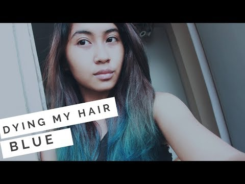 Dying my hair BLUE using Crazy Color's Sky Blue 💙