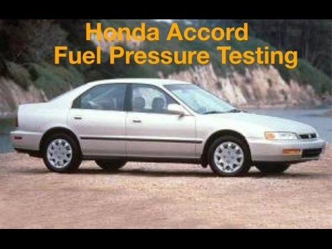 Honda Accord Fuel Pressure Testing