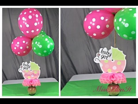 DIY: Quick Tip Dollar Store Baby Shower Center Piece For Less than $5.00!!!