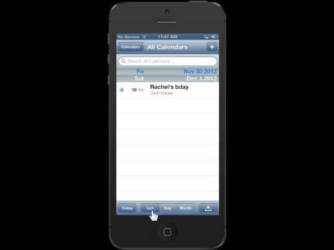 Apple iPhone 5 Change the Calendar Days