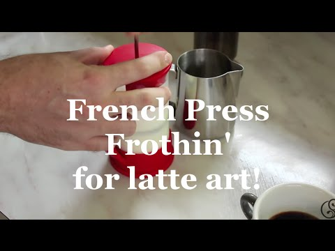 Coffeefusion - Texture milk for latte art with a French Press