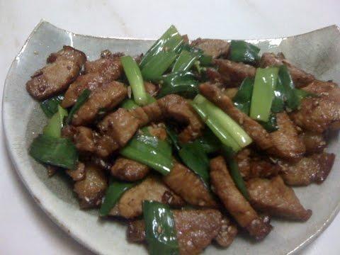 Stir-fry pork : EASY RECIPE