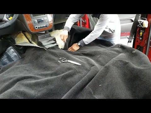 Making Chevy truck Carpeta diy. car upholstery