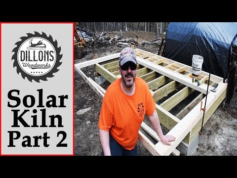 Solar Kiln Build Part 2 - The Big Wall!