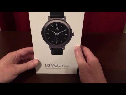 LG WATCH Style unboxing!