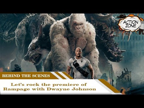 Rampage Behind the scenes | Let's rock the premiere of Rampage with Dwayne Johnson