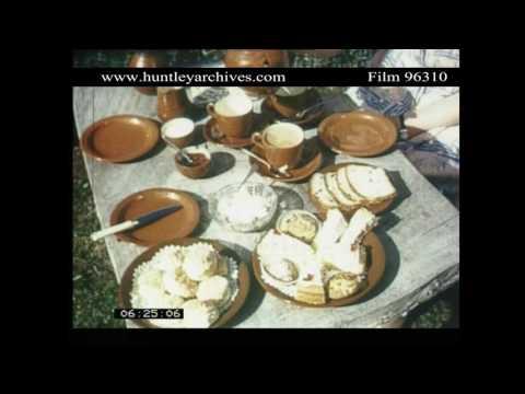 Devon Cream Tea.  Archive film 96310