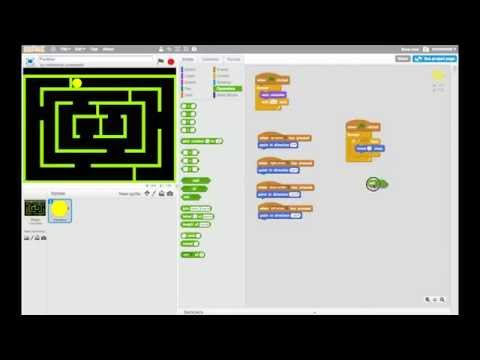 Making Games in Scratch - PacMan - Part 4: Making PacMan Move