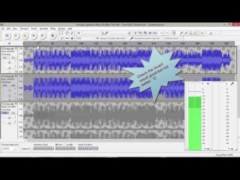 Make Quality Karaoke using  Audacity / Remove vocals from any song using audacity