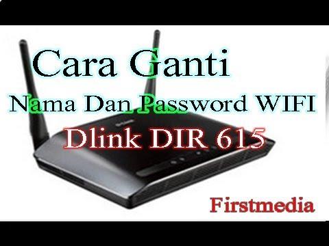 Cara ganti nama SSID dan password Dlink ( Firstmedia )