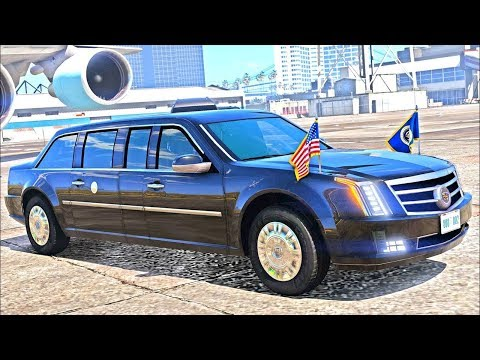 2017 President Escort GTA 5 Mod Game! DONALD TRUMPS Escort LIMO!