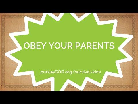 Kids' Survival Tip #2 - Obey your Parents