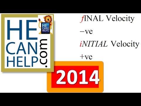 2014 {HECANHELP.COM USA} Initial Velocity Final Velocity Acceleration Time Physics
