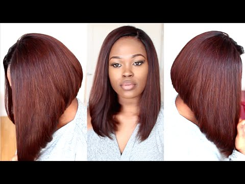 Chestnut Brown Long Bob Hairstyle Tutorial