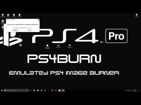 How to burn PS4 games