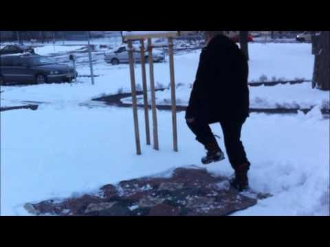 How to clean your carpet - in the snow!