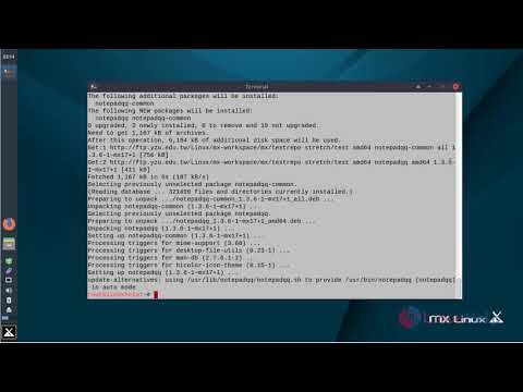 How to install Notepadqq 1.3.6 on MX Linux 17
