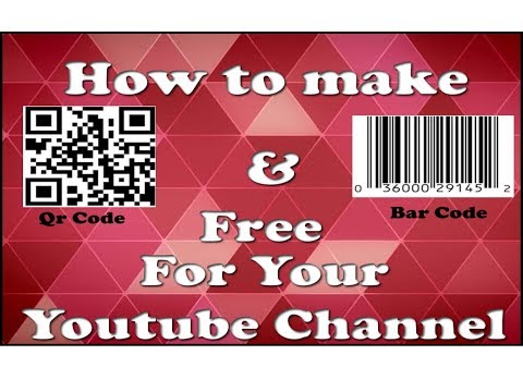 How to make Bar Code for Youtube Channel