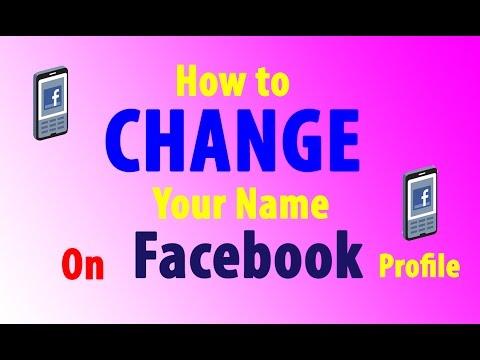 Facebook me aapna nam kaise change karta hai.