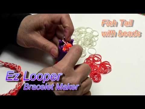 Fish tail Bracelet with beads Instructional video