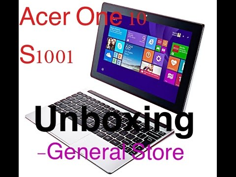 Acer One 10 S1001 Unboxing Touchscreen Laptop 2 in 1 Window 10 Laptab