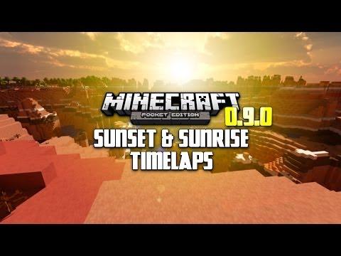 MINECRAFT PE 0.9.0 MESA BIOME TIME-LAPSE! - SUNSET & SUNRISE!