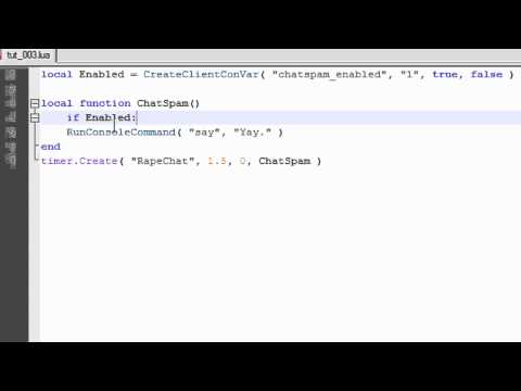 GMOD Lua Tutorial #004: Intro to ConVars and ConCommands