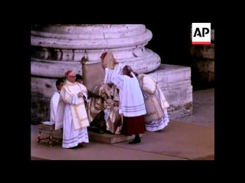 INAUGURATION OF POPE JOHN-PAUL 1 - COLOUR