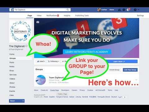 How to link your Facebook Page with your Group