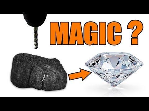 CHARCOAL vs. DRILL PRESS | How to make a real diamond