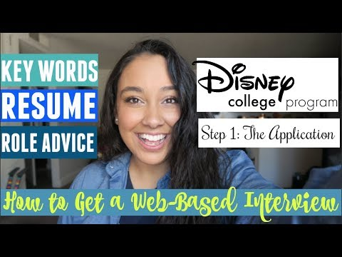 Disney College Program Application Step 1: How to be Guaranteed a Web-Based Interview | Part 1 of 3