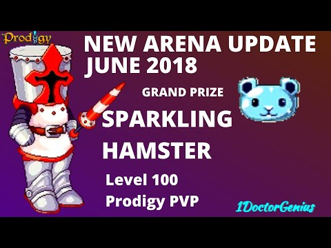 New Arena updates & grand prize as sparkling Hamster : Prodigy math game