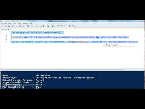 PowerShell Proxy Function