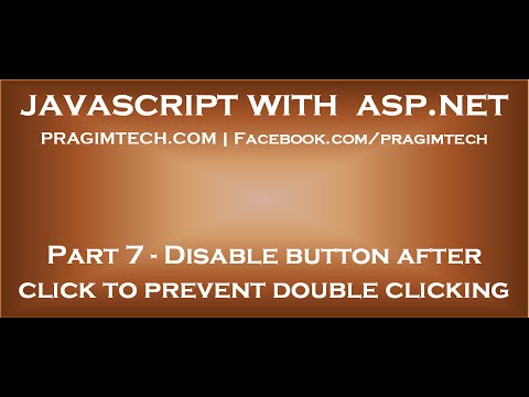 Disable ASP NET button after click to prevent double clicking