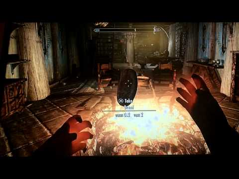Skyrim How to Over Power the Alteration skill using a secret spell get to LEVEL100+