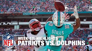 Patriots vs. Dolphins | Week 17 Highlights | NFL