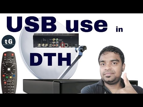 What is the Use of USB Port in Tata Sky, Airtel, Videocon and Other DTH Set Top Box |