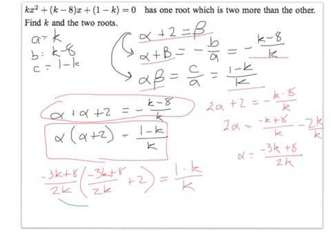 Examples using sum and product of roots