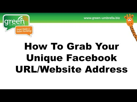 How to Grab your Facebook URL/Website Address