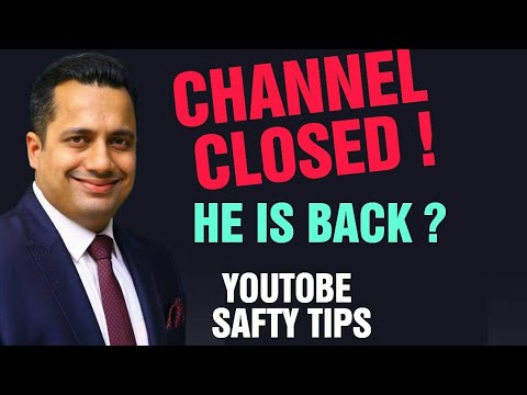 Vivek Bindra channel deleted? comeback?| Terminated | Account Closed | Suspended |