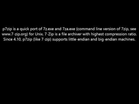 Download p7zip Here! Software