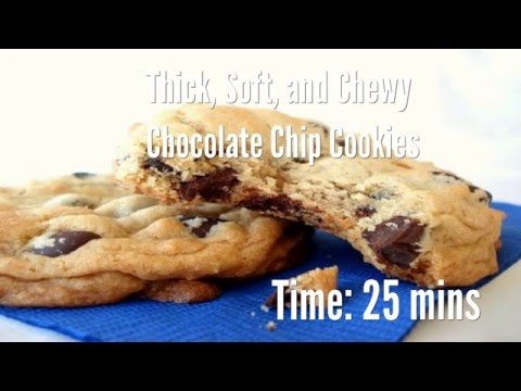 Thick, Soft, and Chewy Chocolate Chip Cookies Recipe