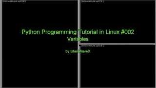 Python Programming Tutorial In Linux 002 Variables