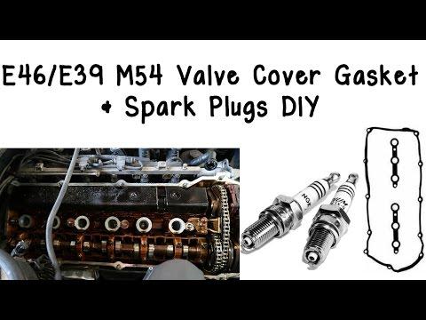 E46/E39 M54 Valve Cover Gasket & Spark Plugs DIY